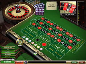 European Style Roulette Game Online